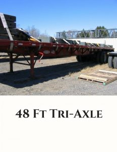 48 Ft Tri Axle Trucking Services