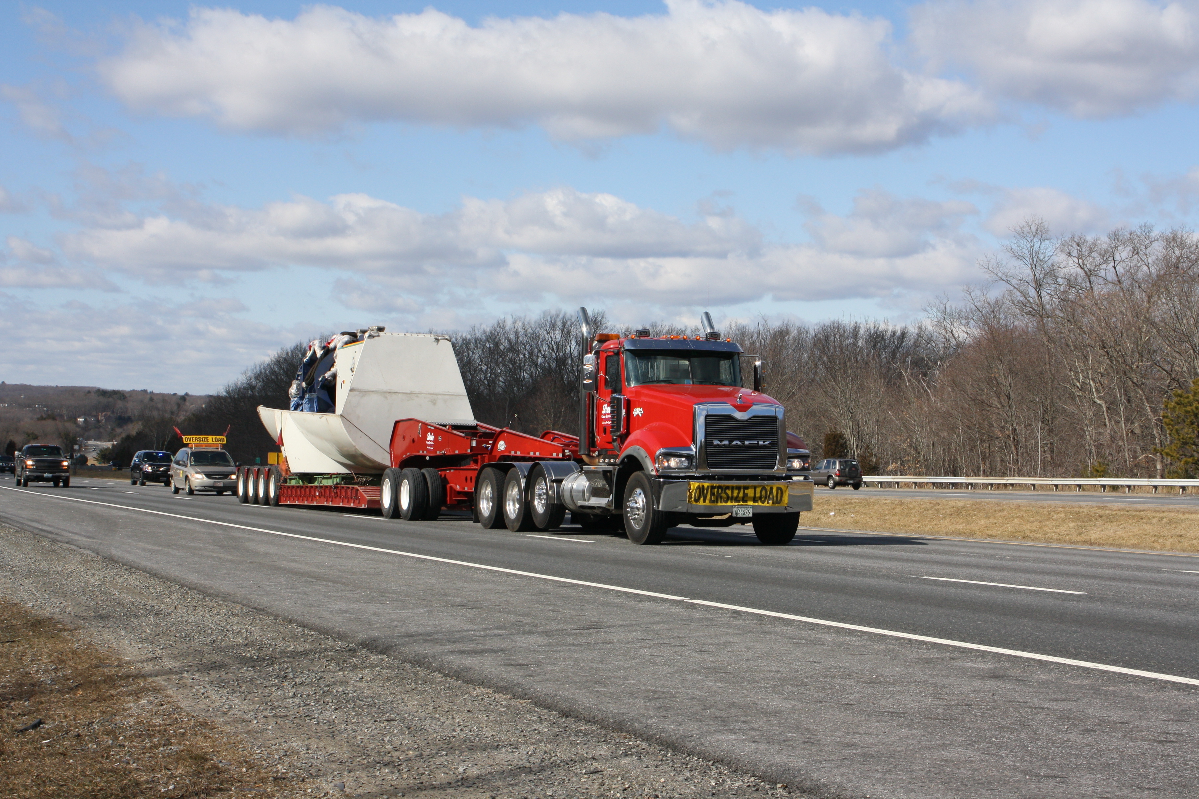 Oversize trucking services