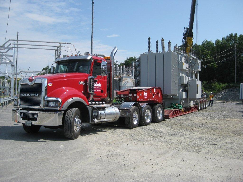 100 Ton Lowbed trucking services for transformer