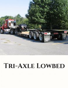 Tri Axle Lowbed Trucking Services